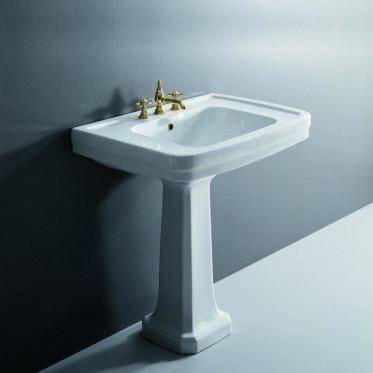 Albano lavabo 64 cm completo di colonna bianco