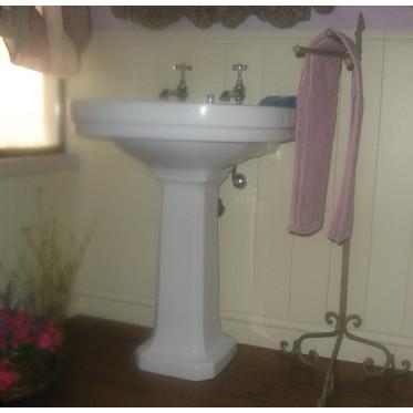 Albano London lavabo 68 cm completo di colonna bianco