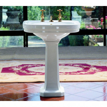 Albano London lavabo 56 cm completo di colonna bianco