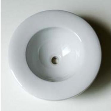 Lavabo da appoggio Round senza foro in ceramica bianco