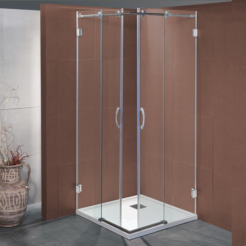 Box doccia scorrevole bapu da 80x80 cm in cristallo 8 mm for Box doccia cristallo