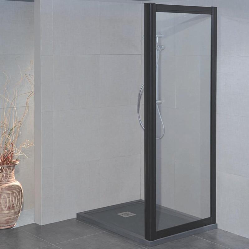 Parete doccia fissa 1200 da 59/67 cm in cristallo 4 mm Bianco Stampato