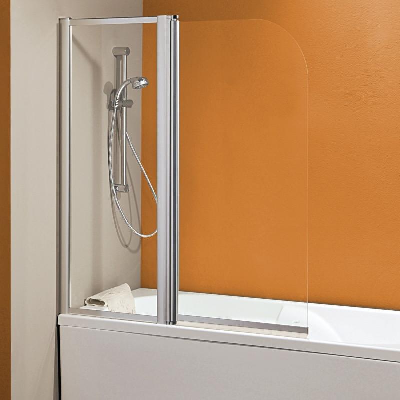 Parete vasca 2300 2 da 120 cm in cristallo 4 mm - Parete per vasca da bagno ...