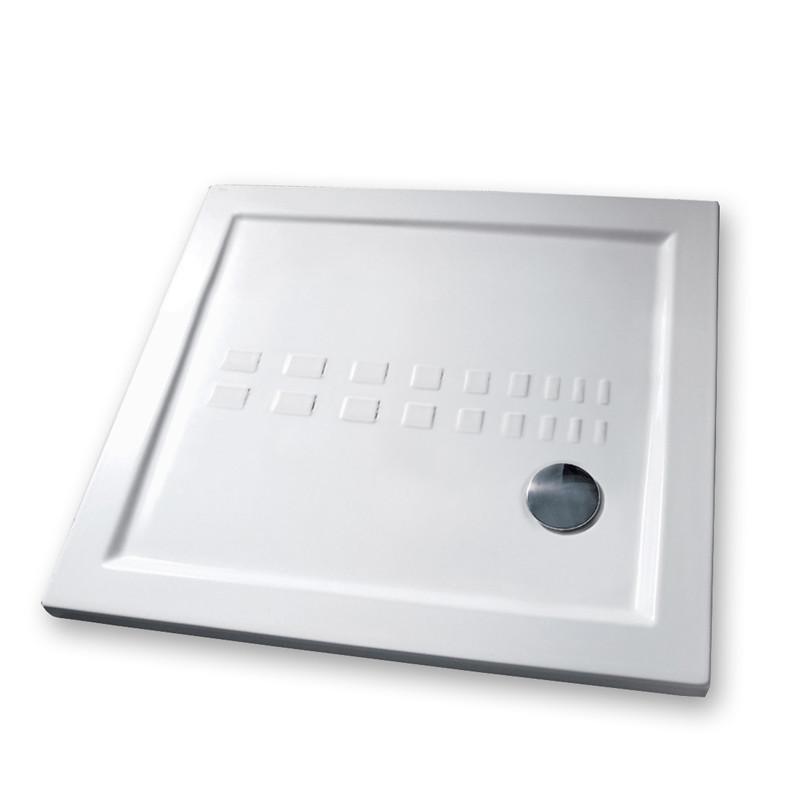 Piatto doccia 90x90 cm quadrato 5.5 extrapiatto bianco  Kasashop