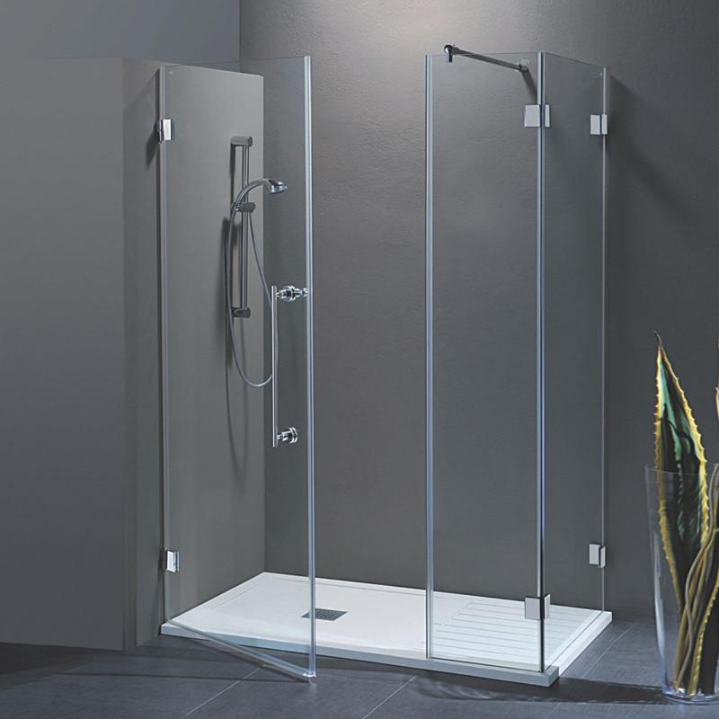 Porta doccia con fisso in linea laura da 120 cm con fisso - Porta doccia 120 ...