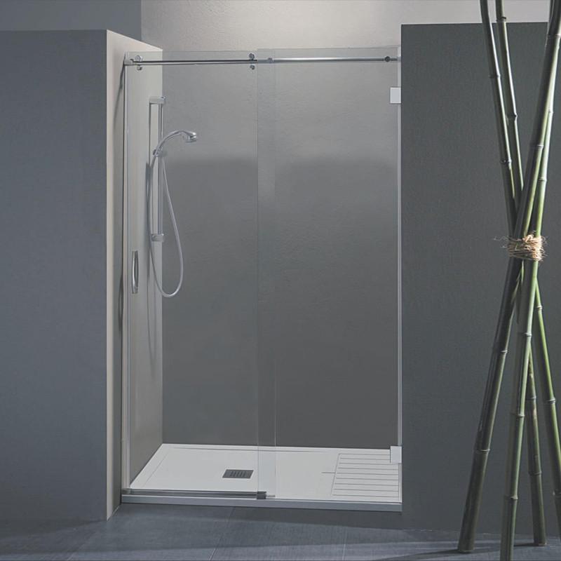 Porta doccia scorrevole wendy da 138 140 cm in cristallo 8 mm - Porta in cristallo scorrevole ...