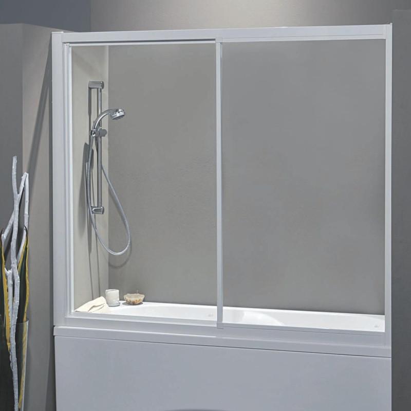 Porta vasca scorrevole 1300 2 da 167 175 cm in cristallo 4 mm - Porta in cristallo scorrevole ...