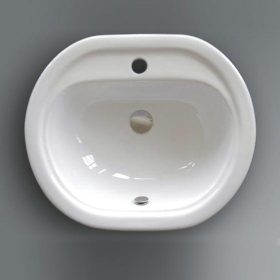 Lavabo da incasso Sammy 55 cm bianco