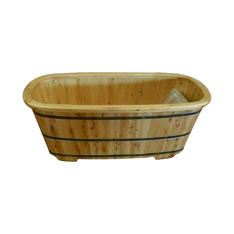 Vasca da bagno in legno trinita 160x72 cm colore naturale - Vasca bagno legno ...