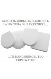 Albano copriwater bianco cerniere cromo