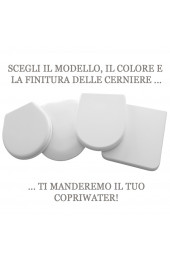 Shape copriwater bianco cromo Soft Close