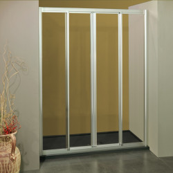 Porta doccia scorrevole con apertura centrale 1108/4 da 147/155 cm in cristallo 4 mm