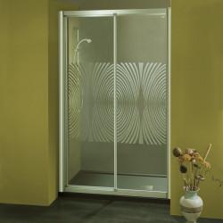 Porta doccia scorrevole 1104 da 115/123 cm in cristallo 4 mm