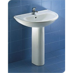Clodia lavabo monoforo 60x51 cm bianco
