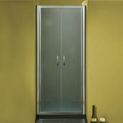 Porta doccia a due battenti 2501 da 66/74 cm in cristallo 6 mm
