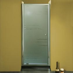 Porta doccia ad un battente 3302 da 76/84 cm in cristallo 6 mm
