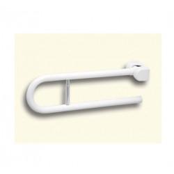 Impugnatura di sostegno ribaltabile con porta rotolo 80 cm bianco