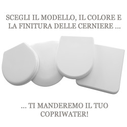 51 copriwater bianco cromo