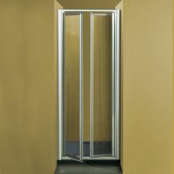 Porta doccia a due battenti  7003 da 83/91 cm in cristallo 4 mm