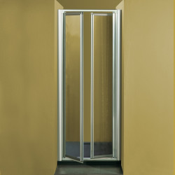 Porta doccia a due battenti  7002 da 75/83 cm in cristallo 4 mm