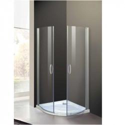 Box doccia semicircolare a due ante a battente 9000 da 90 cm cristallo 6 mm