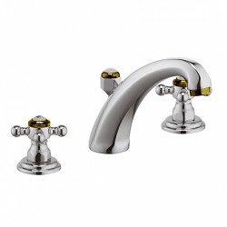 """Kludi Adlon rubinetto lavabo con saltarello 1""""1/4 finitura cromo oro"""