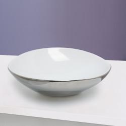 Afya lavabo da appoggio Esterno Argento