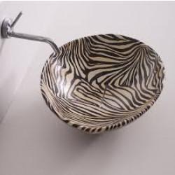 Afya lavabo da appoggio Zebra Arancio