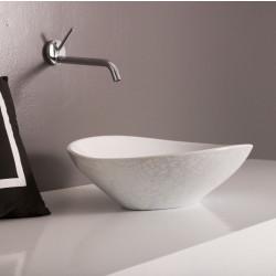 Afya lavabo da appoggio esterno Pitone bianco