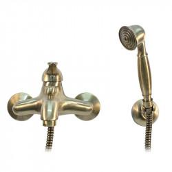 Airone miscelatore vasca bronzo