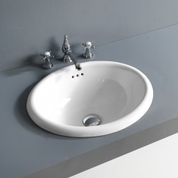 Alba lavabo da incasso 50,5 cm Bianco