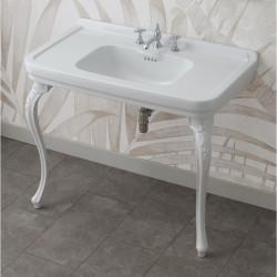 Albano lavabo consolle 105 cm completo di gambe Venice Bianco