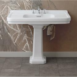Albano lavabo consolle 105 cm completo di colonna Bianco