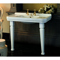 Albano lavabo consolle 105 cm completo di gambe bianco