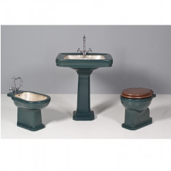 Albano bagno completo 5 pezzi monoblocco Green English & Silver