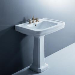 Albano lavabo 80 cm completo di colonna bianco