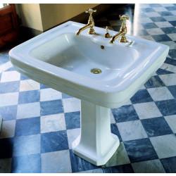 Albano lavabo 69 cm completo di colonna bianco