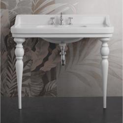 Albano Venice lavabo consolle 105 cm completo di gambe Queen Bianco