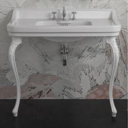 Albano Venice lavabo consolle 105 cm completo di gambe Venice Bianco