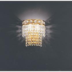 Applique lampada da muro Amsterdam a due luci con montatura oro