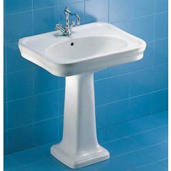 Antalia lavabo 71 cm completo di colonna bianco