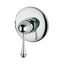 Antico miscelatore monocomando doccia incasso Cromo con leva in metallo Cromo