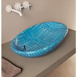 Biko lavabo da appoggio Pelle Azzurra  Affondante