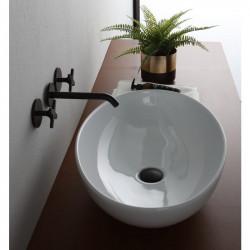 Boat lavabo da appoggio 50 cm Bianco