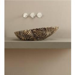 Biko lavabo da appoggio Zebra Arancio