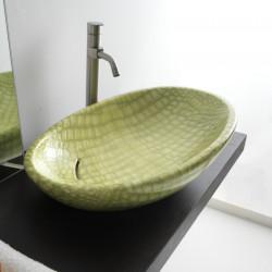 Biko lavabo da appoggio Pelle Verde