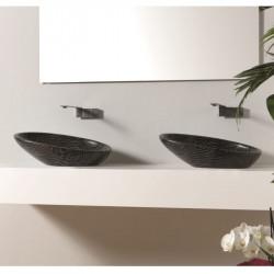 Biko lavabo da appoggio Zebra Argento