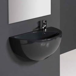 Blob lavabo sospeso 75 cm in ceramica antracite
