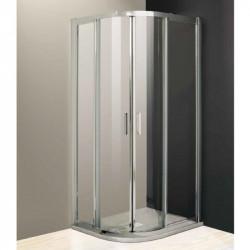 Box doccia semicircolare scorrevole 1951 da 100x80 cm in cristallo 4 mm