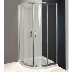 Box doccia semicircolare scorrevole 2000 da 80 cm con maniglie in cristallo 6 mm